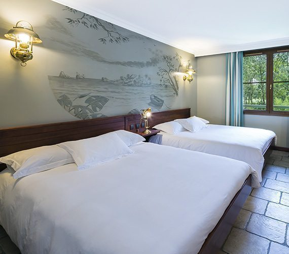Chambres spacieuses et confortables
